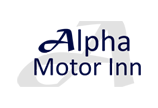 Alpha Motor Inn Sticky Logo